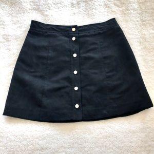 H & M Black Button Up Skirt